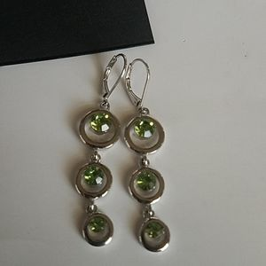 Cookie Lee green and silver earrings